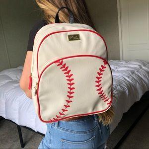 NWOT Rare Betsey Johnson Baseball Backpack